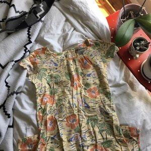 Vintage Tropical Pattern Dress